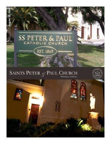 A u g u st 23 , 200 9 - Saints Peter and Paul Church