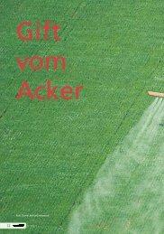 Pestizide: Gift vom Acker - Robin Wood