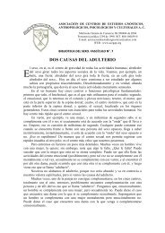 DOS CAUSAS DEL ADULTERIO - ACEGAP