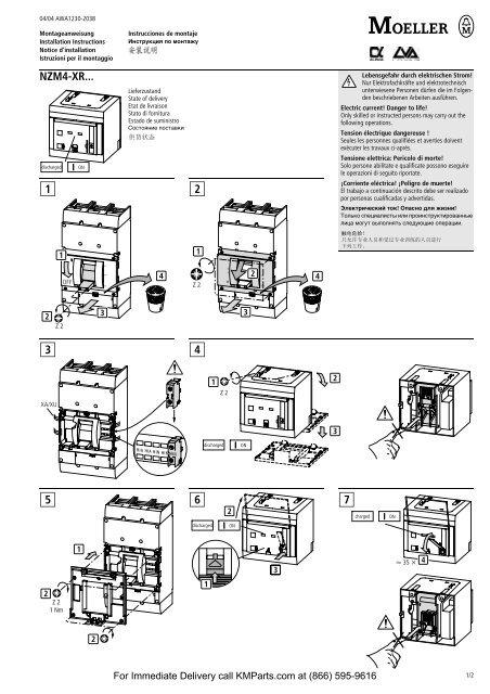 NZM4-XR... 1 2 3 4 5 6 7 - Klockner Moeller Parts