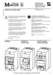 CI-PKZ 0 (-G) (-GR) (-SVB) - Klockner Moeller Parts