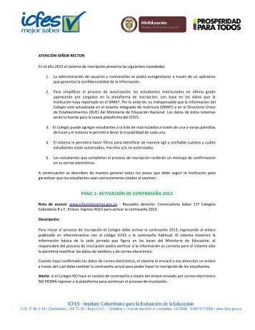 Colegios - ICFES Interactivo