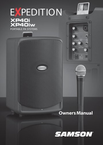 Download the XP40iW English User Manual in PDF format - Samson