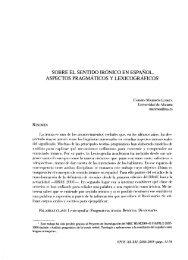 Sobre el Sentido Irónico en Español. Aspectos Pragmáticos y ...