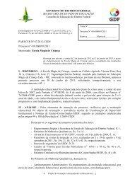 Parecer nº /2007-CEDF - conselho de educação do df