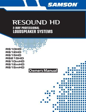 Download the Resound HD English User Manual in PDF ... - Samson