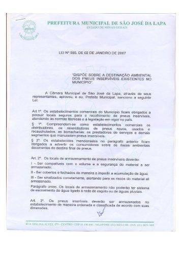 prefeitura municipal de são josé da lapa estado de minas gerais