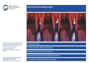 Aluminium-Gusslegierungen Druckgusslegierungen