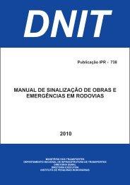 manual de sinalização de obras e emergências em ... - IPR - Dnit