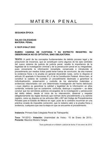 M AT E R I A   P E N A L - Poder Judicial del Estado de México