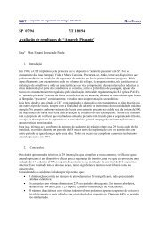 """SP 07/94 NT 180/94 Avaliação de resultados do """"Amarelo ... - CET"""