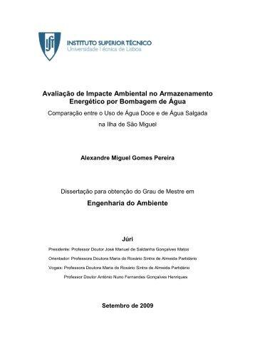 Avaliação de Impacte Ambiental no Armazenamento Energético por ...