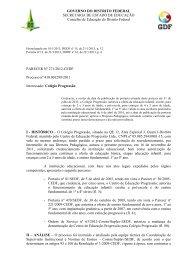 GOVERNO DO DISTRITO FEDERAL SECRETARIA DE ESTADO DE ...