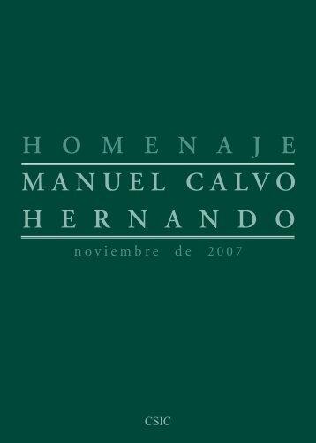homenaje a Manuel Calvo Hernando
