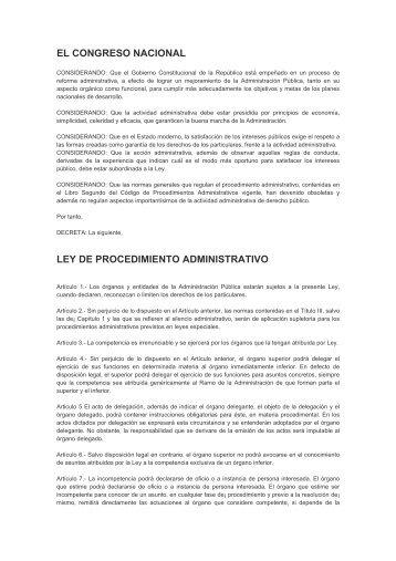 Ley de Procedimiento Administrativo - HonduCompras