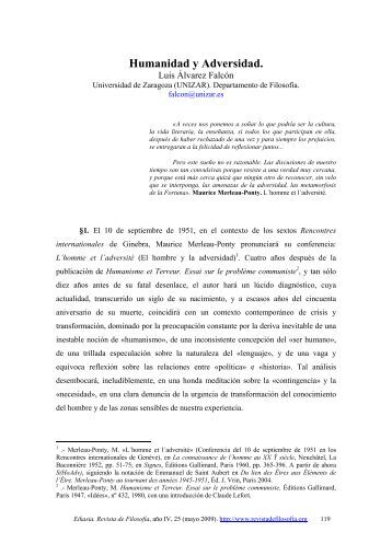 Humanidad y Adversidad. - EIKASIA - Revista de Filosofía
