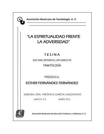 espiritualidad frente a la adversidad - Asociación Mexicana de ...