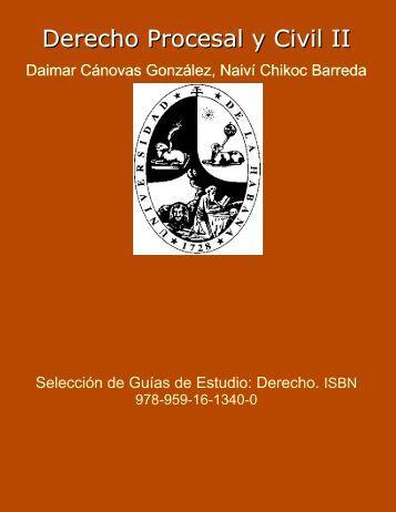 Derecho Procesal y Civil II. En: Selección de Guías de Estudio ...