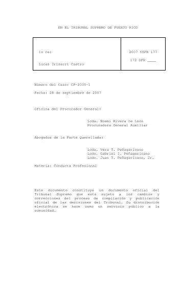 2007 TSPR 177 - Rama Judicial de Puerto Rico