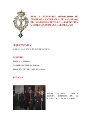 real y venerable hermandad de penitencia y cofradía de nazarenos ...