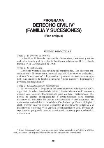 DERECHO CIVIL IV1 (FAMILIA Y SUCESIONES) - UNED