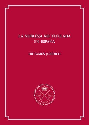 Dictamen jurídico - Hidalgos de España