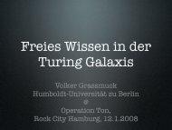 Volker Grassmuck Humboldt-Universität zu Berlin @ Operation Ton ...