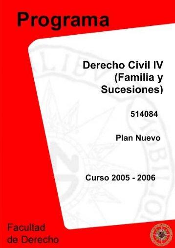 Derecho Civil IV (Familia y Sucesiones) - UNED