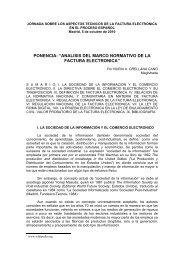 analisis del marco normativo de la factura electronica - Consejo ...