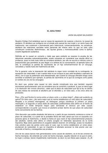 EL ADULTERIO JHON SALAZAR SALGUEDO Nuestro ... - Teleley