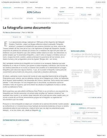 La fotografía como documento - 21.10.2011 - lanacion.com - Marcos ...