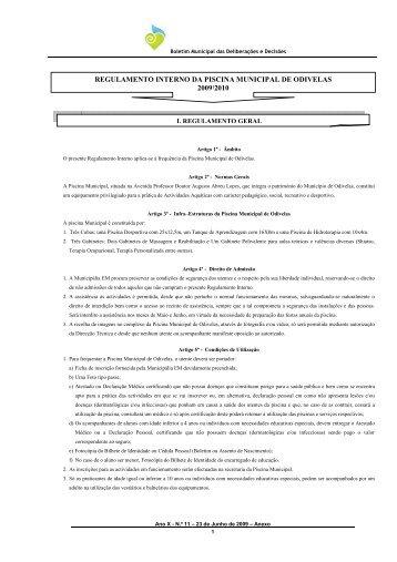 Regulamento de taxas e compensa es urban sticas c mara for Piscina municipal de ilhavo