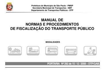 manual de normas e procedimentos de fiscalização do transporte