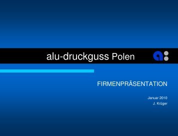 Presentation of alu-druckguss in Poland