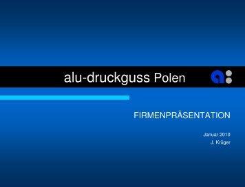 Presentation of alu-druckguss in Poland