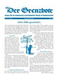 Nr. 8 (20. April 2008) - Evangelisch-altreformierte Kirche in ...