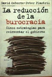 La reducción de la burocracia - Instituto Nacional de Administración ...