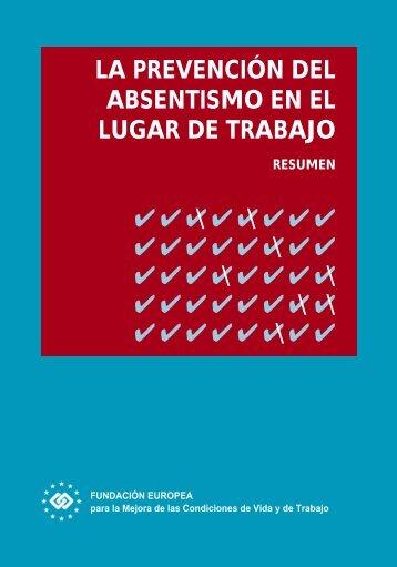 la prevención del absentismo en el lugar de trabajo - Egarsat