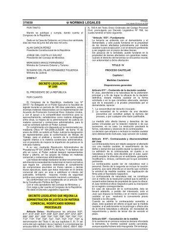 Decreto Legislativo Nº 1069 que Mejora la Administración de ...