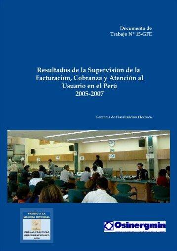 FACTURACION Y COBRANZA - Organismo Supervisor de la ...