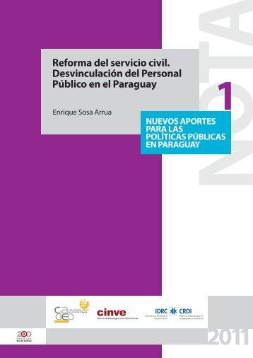 Reforma del servicio civil. Desvinculación del Personal ... - cadep