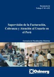 Supervisión de la Facturación, Cobranza y Atención al Usuario en el ...