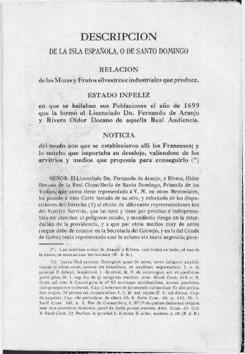 Descripción de la Isla Española - BAGN