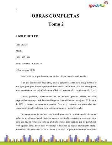 OBRAS COMPLETAS Tomo 2 ADOLF HITLER