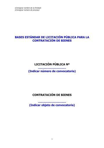 Contratacion de Bienes por LP