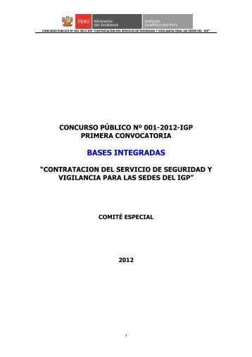 Bases de convocatoria - Instituto Geofísico del Perú