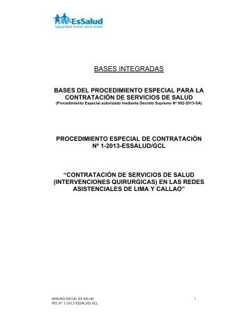 BASES INTEGRADAS - EsSalud