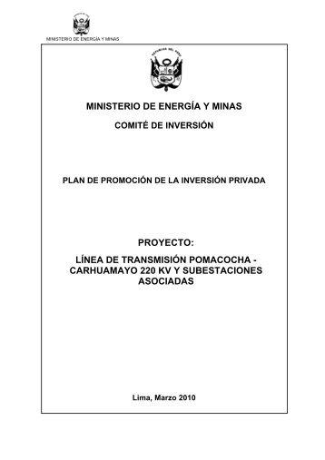 Plan de Promoción - Ministerio de Energía y Minas