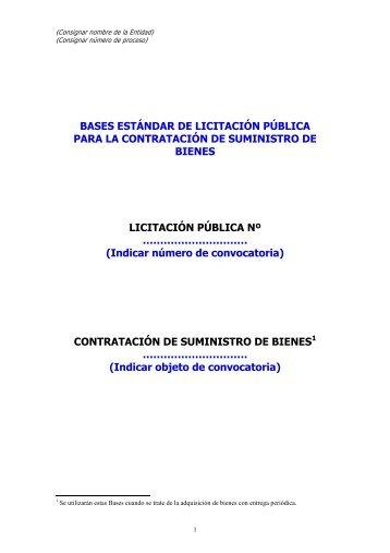 Contratacion de suministros por LP