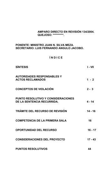 AMPARO DIRECTO EN REVISIÓN 204/2003